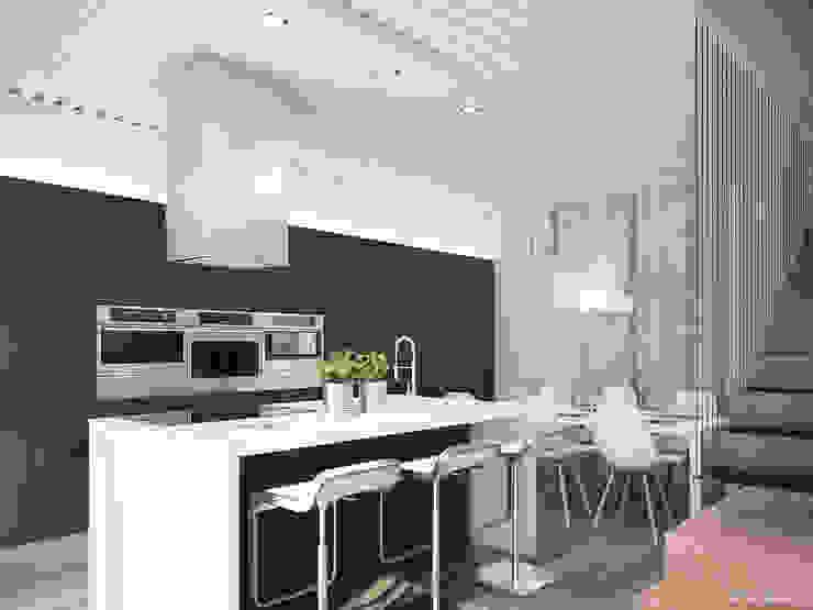 Ville bifamiliari in legno - cucina Cucina moderna di Marlegno Moderno
