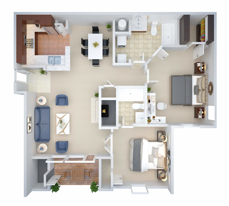 2D to 3D Floor Plan Conversion Services Oleh The 2D3D Floor Plan Company
