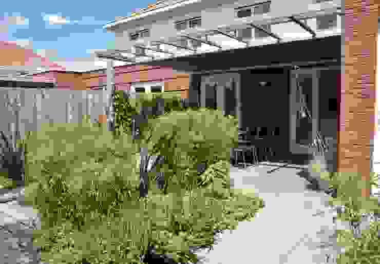 Typische nieuwbouw tuin van Dutch Quality Gardens, Mocking Hoveniers