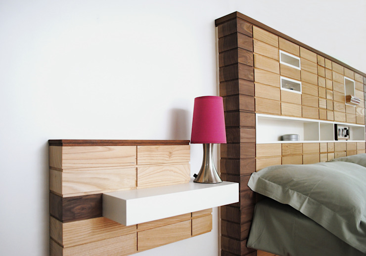 Blocco Arreda BedroomBedside tables Solid Wood