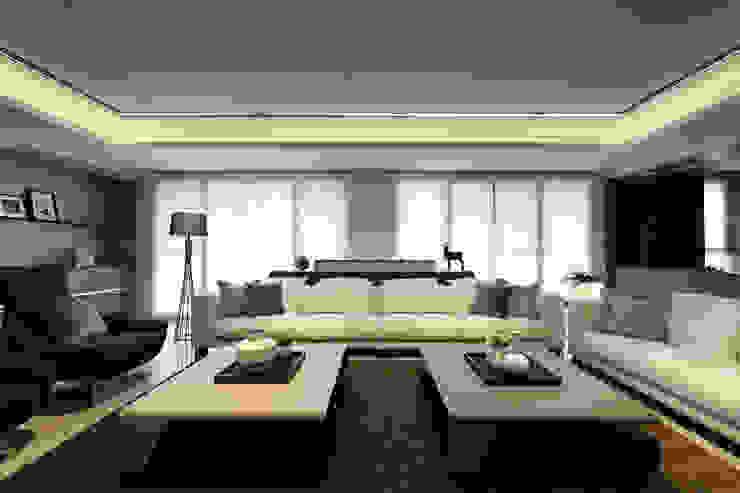 從容 现代客厅設計點子、靈感 & 圖片 根據 楊允幀空間設計 現代風