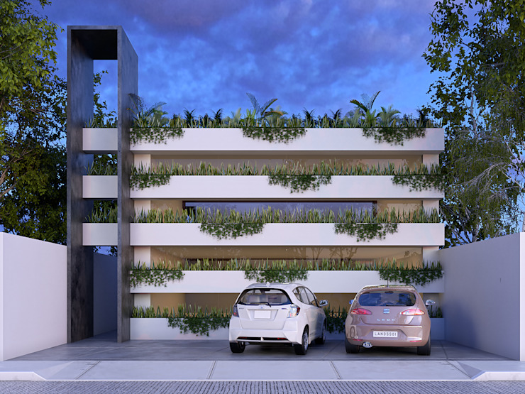FACHADA FRONTAL de CARCO Arquitectura y Construccion Moderno