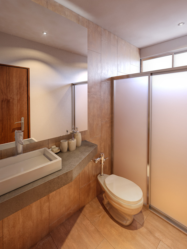 Modern bathroom by CARCO Arquitectura y Construccion Modern