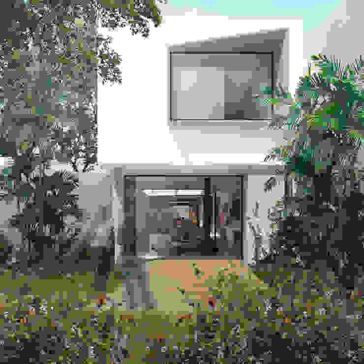 Jardim do quintal por ODVO Arquitetura e Urbanismo Moderno