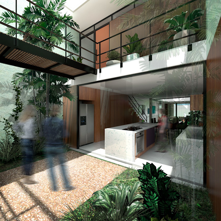 Zen garden by ODVO Arquitetura e Urbanismo