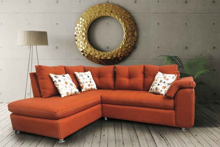 BORNEO SOFAMEX Tienda en línea Salones modernos Naranja