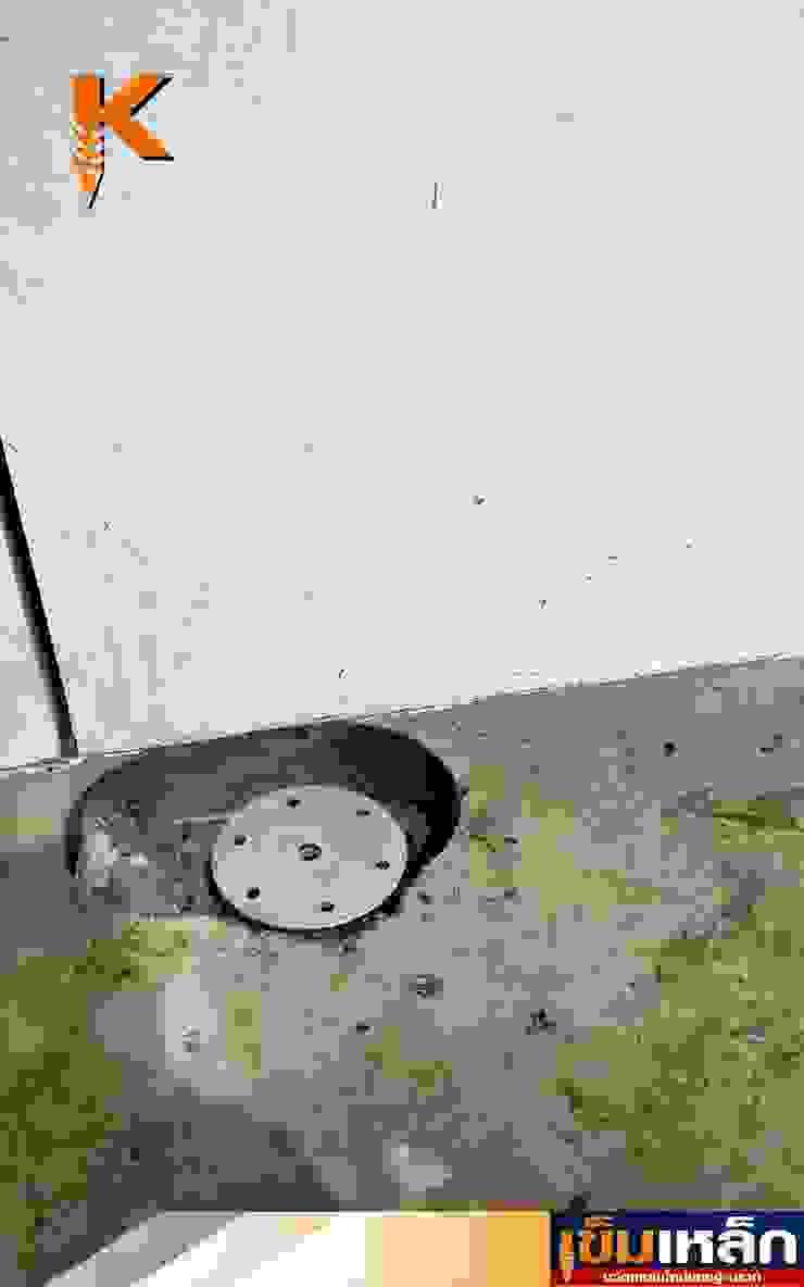 เข็มเหล็กฐานรากโครงหลังคาหน้าบ้าน คุณศราวุธ โดย บริษัทเข็มเหล็ก จำกัด