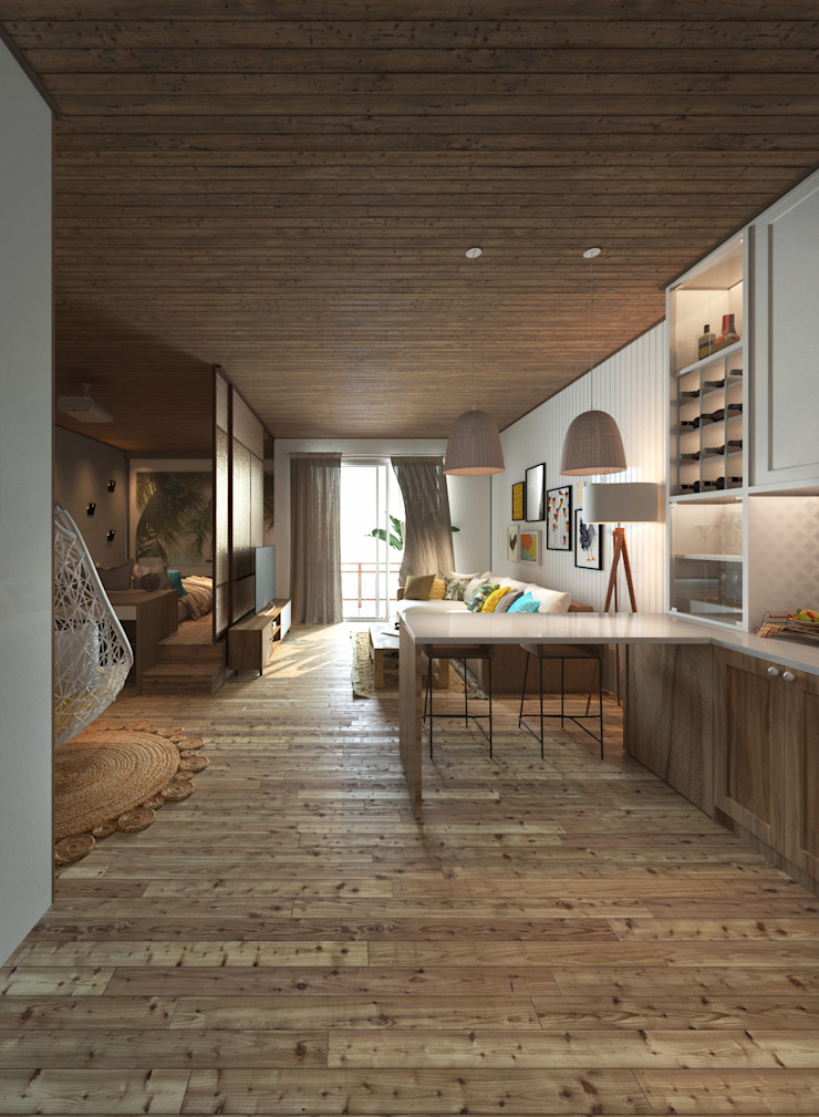 Căn hộ Galaxy 9 Nhà bếp phong cách hiện đại bởi BROS.studio Hiện đại