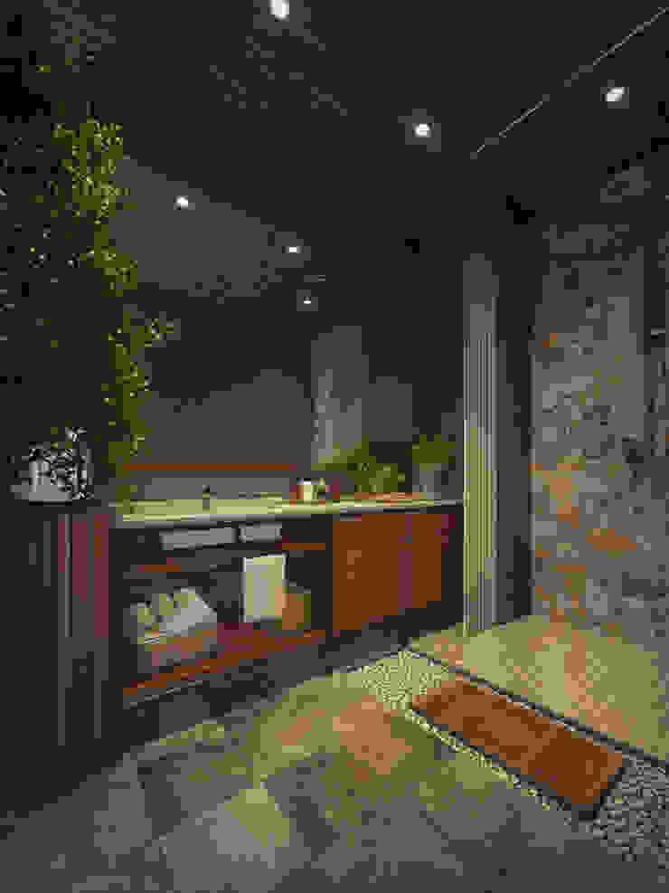 Căn hộ Galaxy 9 Phòng tắm phong cách hiện đại bởi BROS.studio Hiện đại