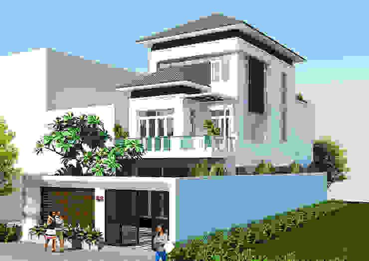 Biệt thự Anh Hà Đức Quyền: hiện đại  by Công ty cổ phần kiến trúc xây dựng Võ Hữu Hiếu, Hiện đại