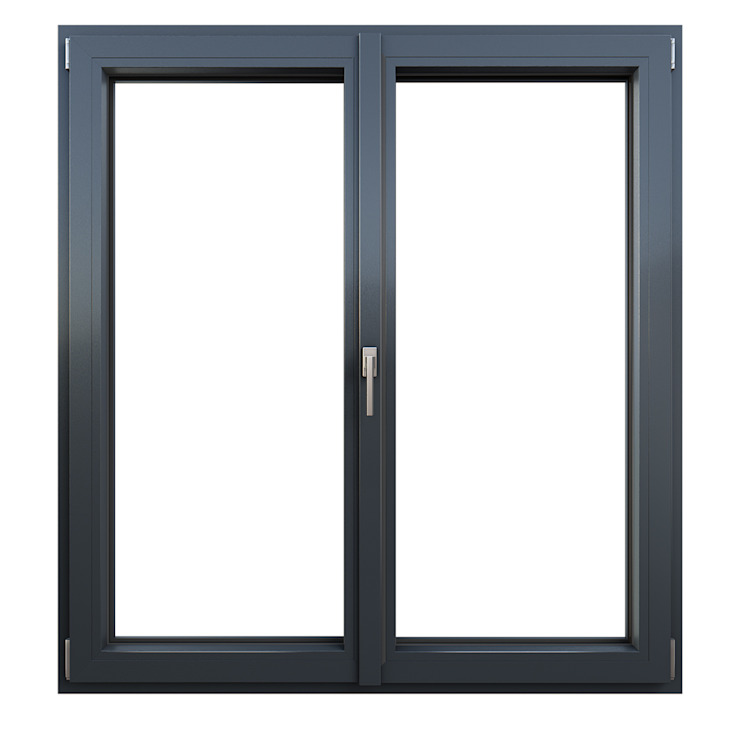 Oknoplast uPVC windows Wood-Plastic Composite Grey