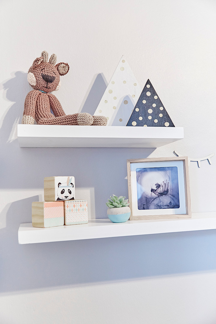 Nursery Room Makeover Featured in Living and Loving Magazine Scandinavian style bedroom by The Home Collective Scandinavian MDF