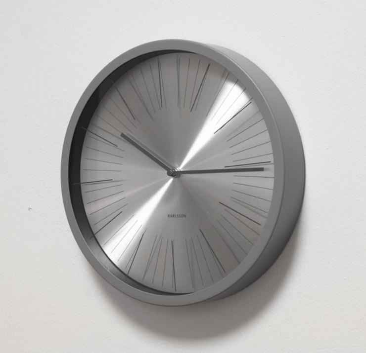 Karlsson Floating Stripes Wall Clock: modern  by Just For Clocks,Modern Metal