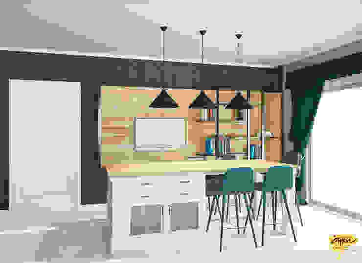 Muebles de cocinas de estilo  por Öykü İç Mimarlık