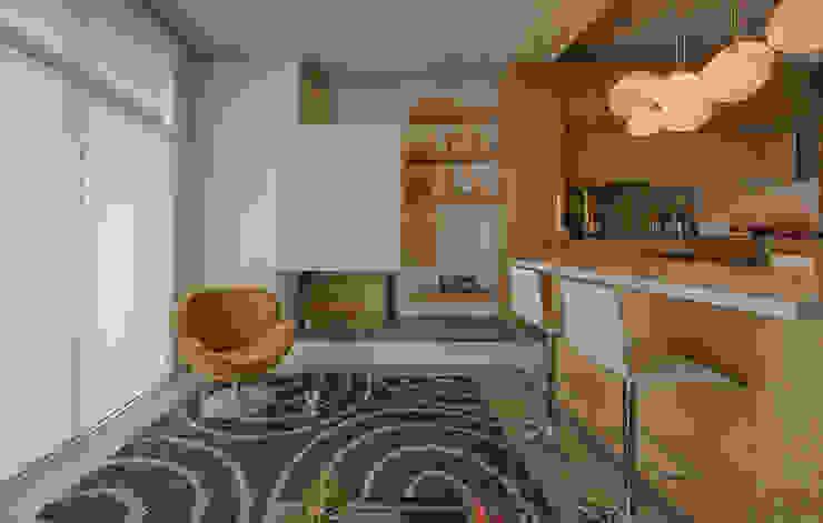 LIVING Comedores de estilo minimalista de Martínez Arquitectura Minimalista