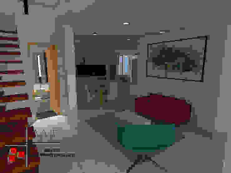 Proyecto Casa Ospina Salas modernas de Arquitecto Andrés Fonseca Moderno