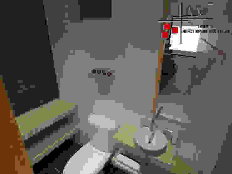 Proyecto Casa Ospina Baños de estilo moderno de Arquitecto Andrés Fonseca Moderno
