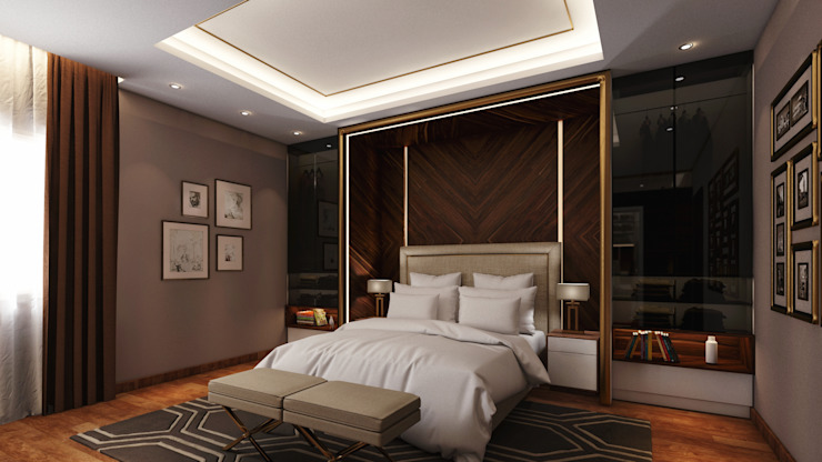 Private Villa - Royal Maxim:  Bedroom by RDW Architects