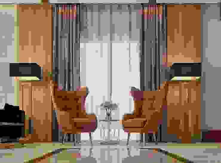 Private Villa—Royal Maxim Modern corridor, hallway & stairs by RDW Architects Modern