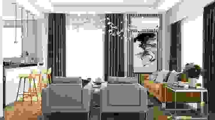 Tremblay Residence Salones modernos de RDW Architects Moderno