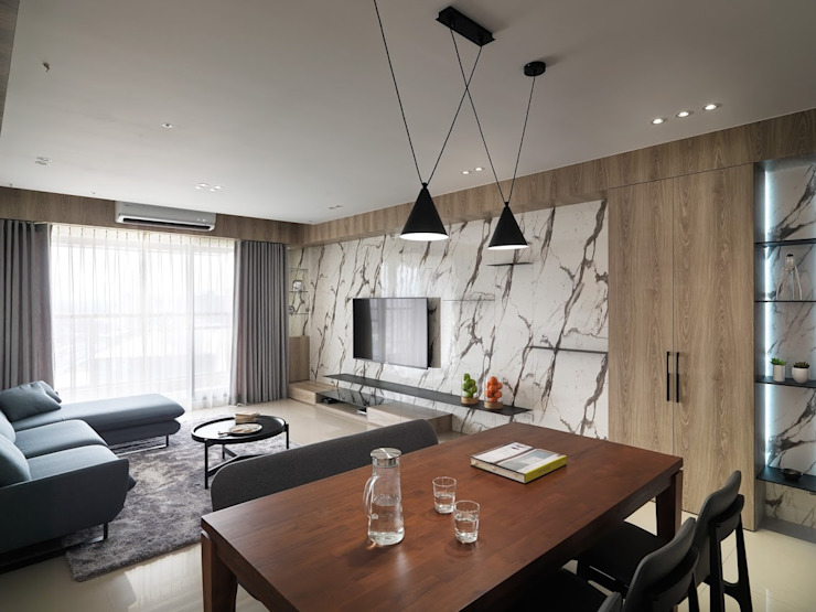 木皆空間設計 Salas de estilo escandinavo