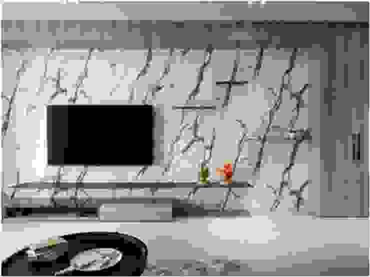 Livings de estilo minimalista de 木皆空間設計 Minimalista