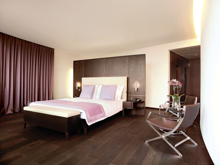Double Room Deluxe Modern Bedroom by The Dolder Grand Modern