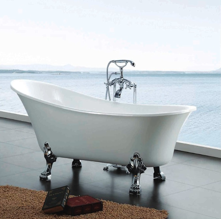 Ayaklı küvet Prestij Banyo Klasik Banyo Metal Beyaz