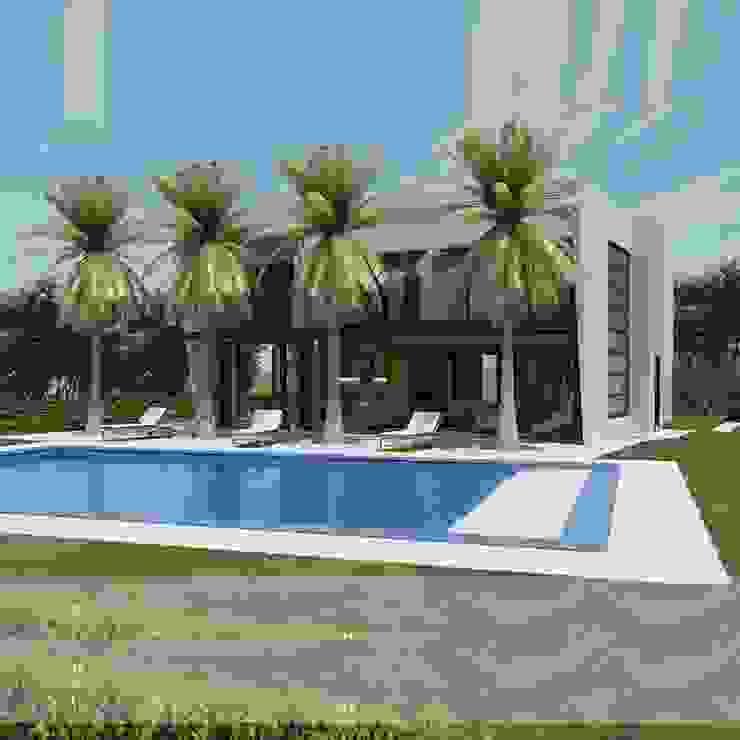 Otras casas de clima calido. Modern Pool by Arquitectos y Entorno S.A.S Modern
