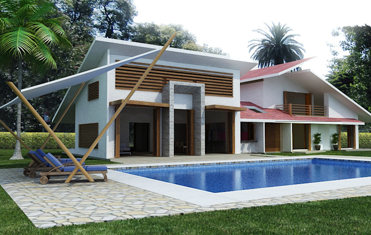 Modern houses by Arquitectos y Entorno S.A.S Modern