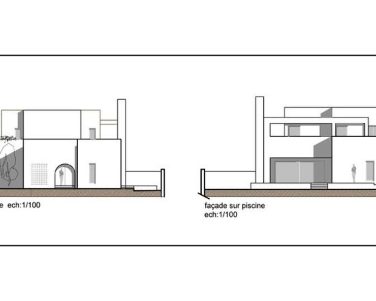 Villa R B.A-Studio Mediterranean style house