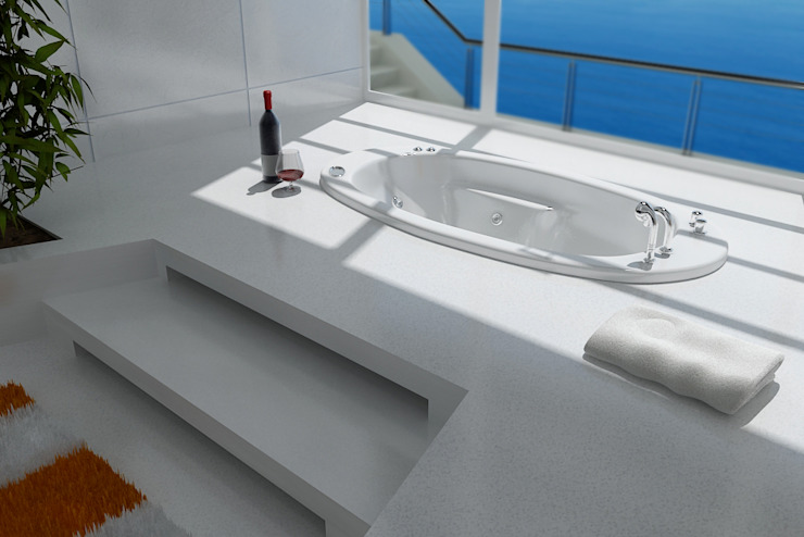 Modern style bathrooms by Arquitectos y Entorno S.A.S Modern