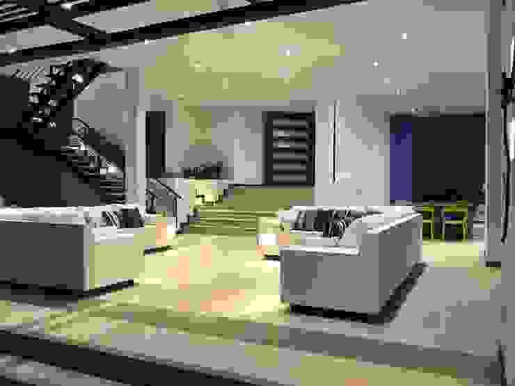 Casas Campestres Salas modernas de Arquitectos y Entorno S.A.S Moderno