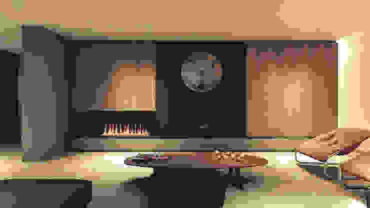 Aranżacje wnętrz salon z zegarem von Zegary Design | homify