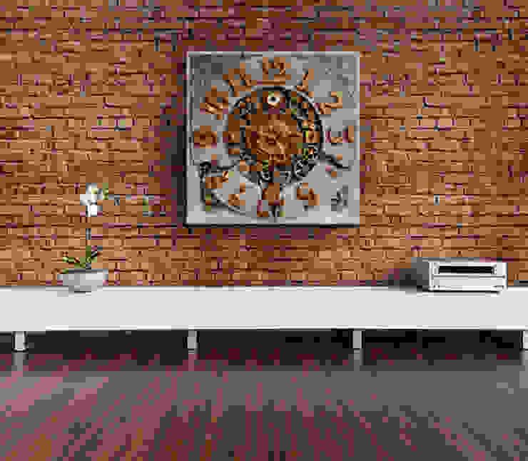 aranżacje wnętrz salon z zegarem Zegary Design Eklektyczny salon