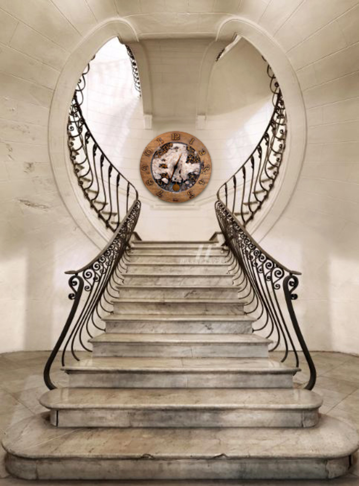 duży zegar ścienny Zegary Design Eklektyczny korytarz, przedpokój i schody