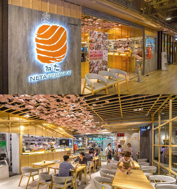 Neta fish and meat @ The street Rachada: เอเชีย  โดย Glam interior- architect co.,ltd, เอเชียน กระจกและแก้ว