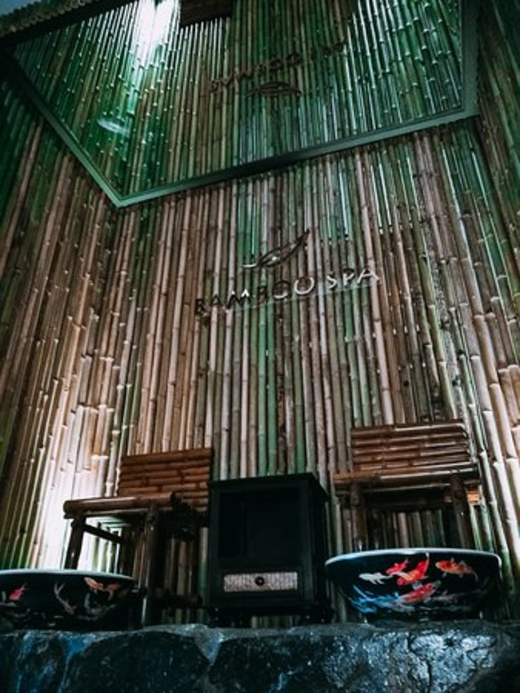 Bamboo spa and little dimsum โดย Glam interior- architect co.,ltd เอเชียน ไม้เอนจิเนียร์ Transparent