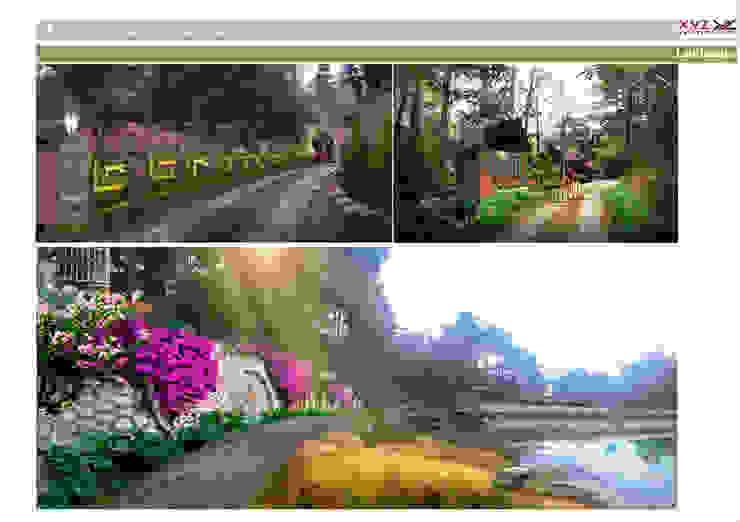 Jardin de style  par Công ty cổ phần X.Y.Z,