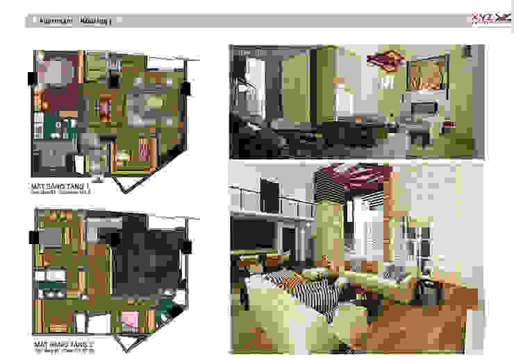 Penthouse Keangnam-Midcentury style bởi Công ty cổ phần X.Y.Z Hiện đại