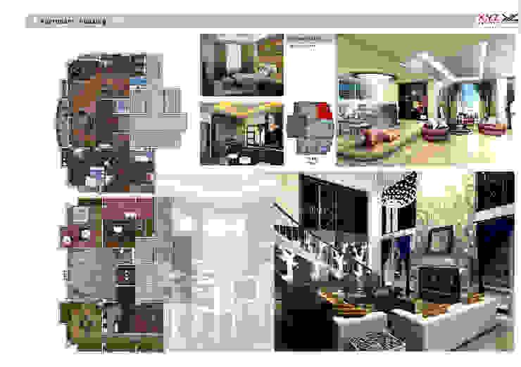 Penthouse Vankhe-Neoclassic style Phòng khách phong cách Bắc Âu bởi Công ty cổ phần X.Y.Z Bắc Âu