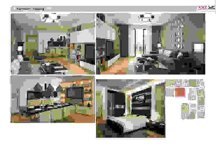 Apartment Mandaringarden-Contemporary style bởi Công ty cổ phần X.Y.Z Hiện đại
