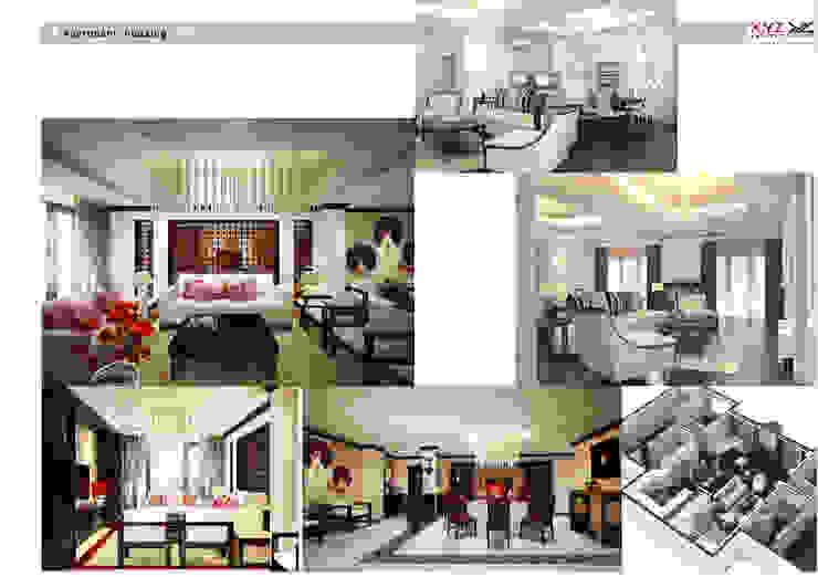 Apartment Mandaringarden-Asia style Phòng khách phong cách châu Á bởi Công ty cổ phần X.Y.Z Châu Á