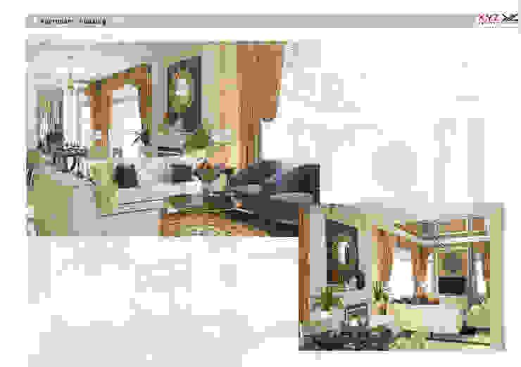 Villa Splendora-Neoclassic style Phòng khách phong cách Bắc Âu bởi Công ty cổ phần X.Y.Z Bắc Âu