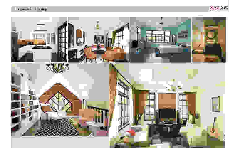 Villa Vanquan-neoclassic style Phòng khách phong cách Bắc Âu bởi Công ty cổ phần X.Y.Z Bắc Âu