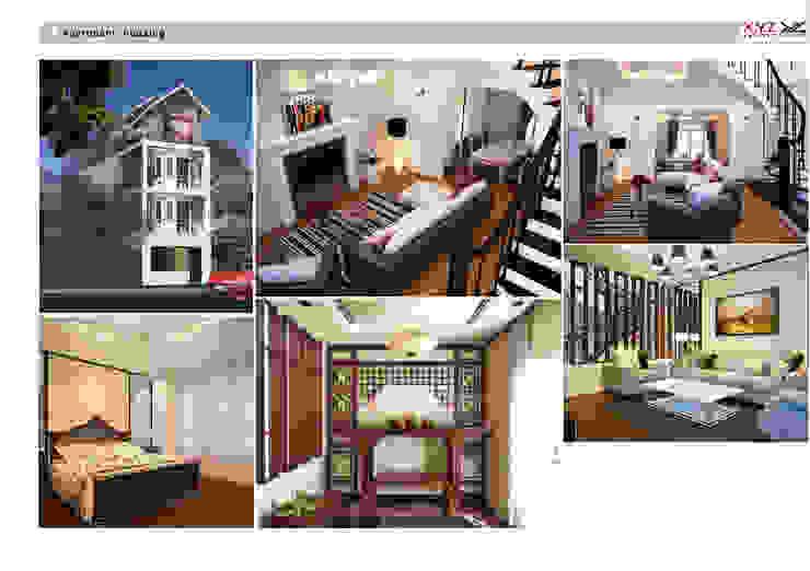 Housing Phuthai haiduong-Retro style Phòng khách phong cách chiết trung bởi Công ty cổ phần X.Y.Z Chiết trung