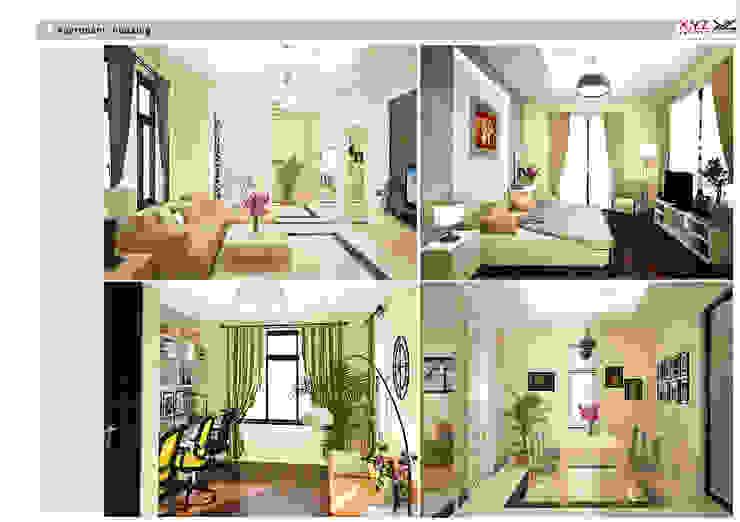 Villa Vanquan-contemporary style Phòng khách phong cách chiết trung bởi Công ty cổ phần X.Y.Z Chiết trung