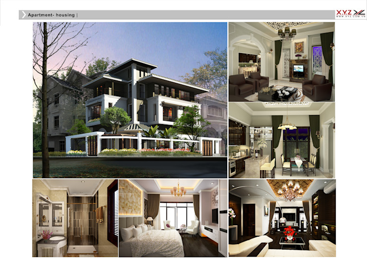 Villa Vinhcity- Neoclassic style Nhà phong cách Bắc Âu bởi Công ty cổ phần X.Y.Z Bắc Âu