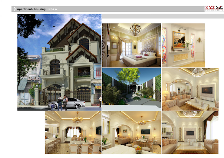 Villa Batrieu Haiduong-Neoclassic style Nhà phong cách Bắc Âu bởi Công ty cổ phần X.Y.Z Bắc Âu
