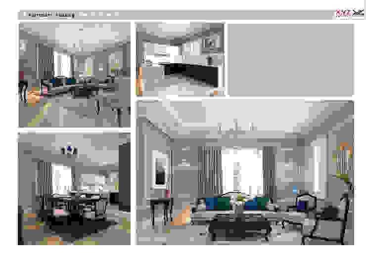 Tay Ho housing-Neoclassic style Phòng khách phong cách Bắc Âu bởi Công ty cổ phần X.Y.Z Bắc Âu